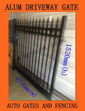 Swing Single Gate  /Front Driveway  Black Spear and Ring  1716mm (W)X1500mm