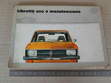 MANUALE USO MANUTENZIONE ORIGINALE 1971 VOLKSWAGEN K70 VW NSU RO80 RO 80 WANKEL