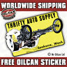 thrifty auto supply vintage repro hotrod decal / sticker 110 x 65mm ratlook