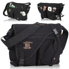 ELEPHANT Umhängetasche Tasche JACK BAG Messenger A4 Canvas Cotton SCHWARZ NEU