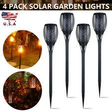 4pcs Solar Power LED Flickering Landscape Light Dancing Flame Torch Garden Lamps