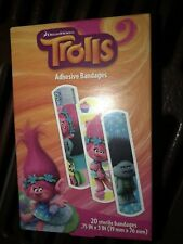 Trolls Band Aids Bandages 3 Designs Children Kids 20 In Pack Kids new