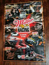 Miller Brewing Company Miller Racing Celebrating 25 Years Poster