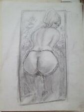 Nu dessin erotique  crayon 9x