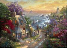 THOMAS KINKADE Painter of Light THE VILLAGE LIGHTHOUSE 1000 Piece Jigsaw Puzzle