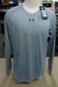 NWT Mens UNDER ARMOUR Long Sleeve Shirt 1268475 001 Gray $29.99 New