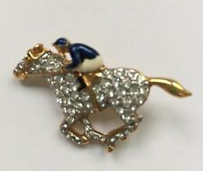 vintae CAROLEE Horse & Jockey Brooch Pin