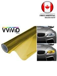 VViViD XPO Golden Yellow Headlight - Tail Light Window Tint 2-Pack (12in X 24in
