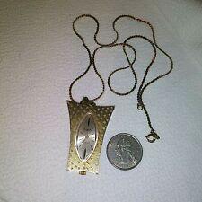 Vtg Womens SHEFFIELD SWISS MOVEMENT Mechanical (Wind Up) PENDANT watch Necklace