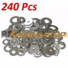 240 Pcs Zinc Plated Steel Flat Washers Set Assortment Kit 3 Size 1/2