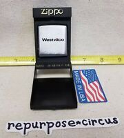 "Vintage ZIPPO 79"" Pocket Tape Measure Original Box/Paperwork. Westvāco logo"