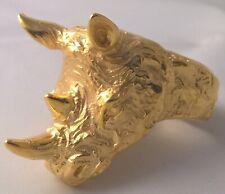 G-Filled 18k gold LARGE Rhinoceros Men's ring Rhino ZOO Animal 25.6 g USA 13 Z+1
