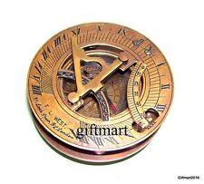 3-Brass-Sundial-Compass-Maritime-Gifted-Sundial-Nautical-Brass-Pocket-Compass