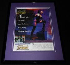 Deathtrap Dungeon 1997 Framed 11x14 ORIGINAL Advertisement
