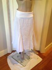 NEW BOO RADLEY Skirt White Pure Linen Skirt SIZE 10 NWT Unique Boho Gypsy