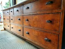More details for antique shop counter, haberdashery bank of drawers, pine, mahogany