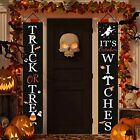 Halloween Decorations Outdoor Trick or Treat & It's October Witches Welcome Sign