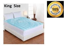 "Memory Foam Mattress Topper Orthopedic 5-Zone Gel 2"" Bed Pad Cover King Size"
