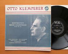 Beethoven Missa Solemnis Otto Klemperer op. 123 Vox mono PL 11.430 EX/VG