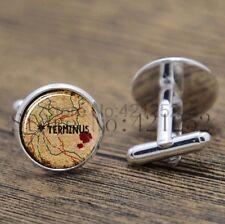 Cufflinks Glass Silver The Walking Dead New & Sealed