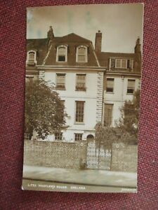 VINTAGE SEPIA REAL PHOTO POSTCARD OF WHISTLER'S HOUSE, CHELSEA 1949