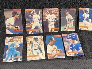 9 MLB Player Small Fridge Magnets Vintage Boggs Schmidt Bo Clark Ripken Sanberg
