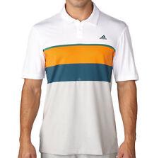 Adidas Golf Mens ClimaCool Engineered Striped Golf Polo Shirt