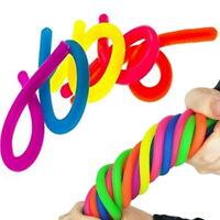 6PCS/Set Stretchy Noodle String Neon Childrens Fidget Stress Relief Sensory Toy