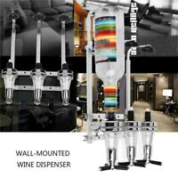 Bottle Stand Wall Mounted Dispenser Drinks Wine Spirits Party Steel Optics K2J1