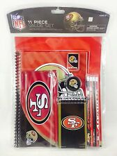 NFL San Francisco 49ers 11pc School Stationary Set Team Logo Study Value Kit