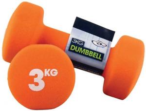 Fitness Mad Neo Dumbbells Pack of 2, Orange, 3Kg