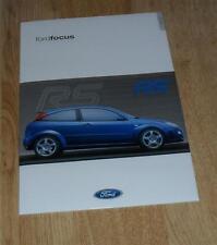 Ford Focus RS Mk1 Brochure Pack 2001 - WRC
