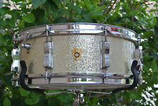 SUPER CLEAN! '67 Ludwig JAZZ FESTIVAL SILVER SPARKLE SNARE DRUM fr YOUR SET D403
