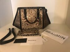 NWT SET Brahmin Arden Purse +Ady  Wallet Gold Bel Canto Tri Texture + Tri Color