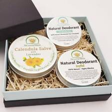 Plastic-Free, Natural Skincare Gift Set in Eco-Friendly Box Unisex, Women & Men