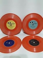 """Lot of 4 Vintage Walt Disney Mickey Mouse Club 1950's 45rpm 7"""" Record"""