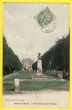 cpa 27 - BRETEUIL sur ITON (Eure) Promenade des PLESSES Buste du PEINTRE RIBOT