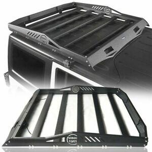 Roof Rack Luggage Carrier w/ 2x LED Lights For 07-18 Wrangler Jeep JK 4Dr (Half)