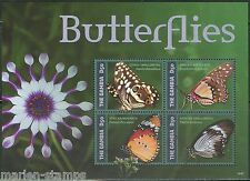 """THE GAMBIA 2014 """"BUTTERFLIES II"""" SHEET OF FOUR STAMPS"""