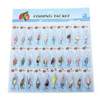 30 X metallo misti Spinners Pesca Esche luccio salmone Bass trota Pesce Gan J1T0