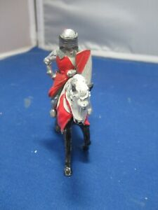 Timpo Knight of Round Table Sir Bedievere Mounted with shield and movable visor