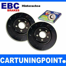 EBC Discos de freno eje trasero negro Dash Para VW PASSAT 6 3c5 usr1416