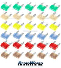 30 Assorted Car Automotive Mini Blade Fuse Fuses 5 10 15 20 25 30 AMP