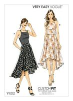 V9252 Sewing Pattern VERY EASY Custom Fit Cup Sizes A,B,C,D Lined Bodice Dress