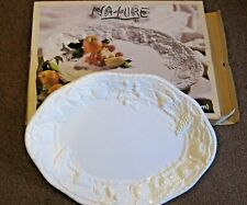 "Tabletops Nature Handcrafted Large White Serving Platter 21""x15"""