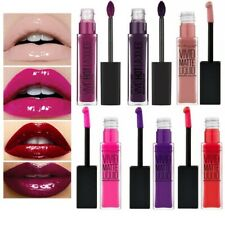 Maybelline Vivid Hot Lacquer Gloss & Matte liquid lipstick nude purple plum red