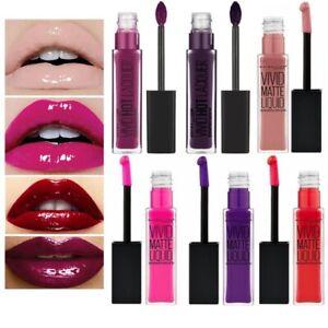 Maybelline Vivid Hot Lacquer Gloss & Matte liquid lipstick 💋💄💋💄
