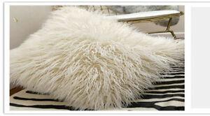 Luxury Soft Fleece Cushion Plush Fur Faux Fur Pillow Cushion Cover Pillowcase