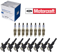 Set (8) FORD Spark Plugs Motorcraft SP493 & Coils OEM# AGSF32PM DG508 4.6 V8