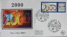 ENVELOPPE PREMIER JOUR - 9 x 16,5 cm - ANNEE 1999 - VIVE L'AN 2000